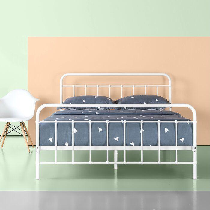 Aly Metal Platform Bed Frame In 2020 Metal Platform Bed Bed