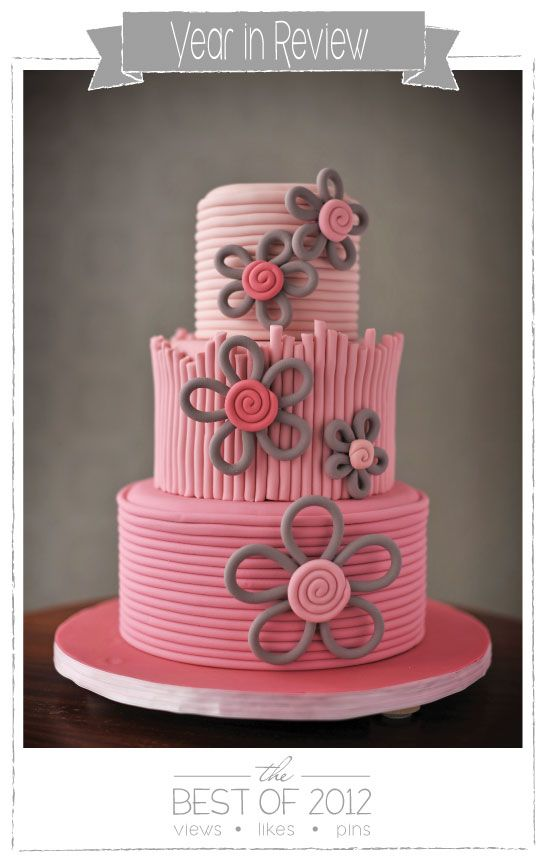 Quilled Flower Cake by Fat Girl Cakes