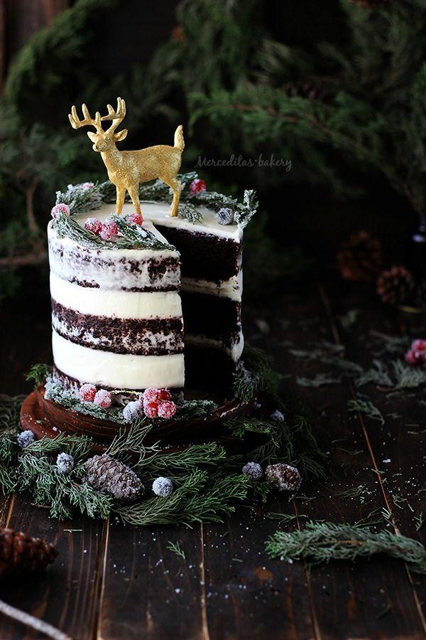 """Tarta invernal de Merceditas Bakery Las recetas del reto """"Christmas Time"""", ya estamos en Navidad!!"""