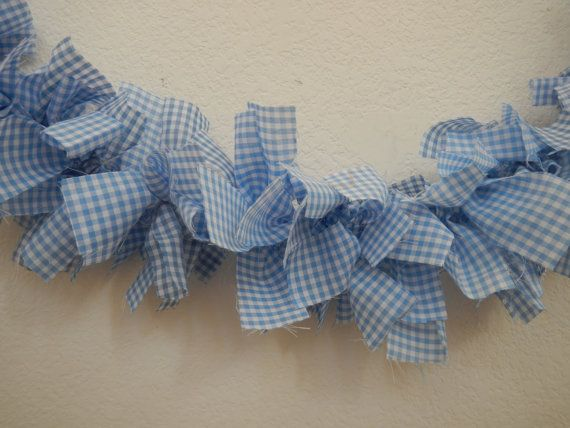 Hey, I found this really awesome Etsy listing at https://www.etsy.com/listing/171058015/gingham-garland-blue-and-white-wizard-of