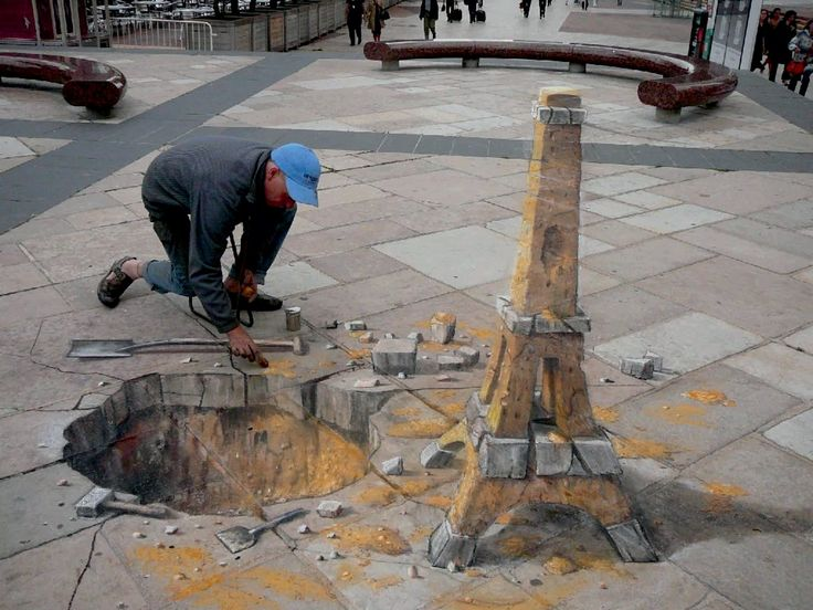 Best ART D Chalk DRAWINGS Images On Pinterest D Street - Anamorphic art looks real
