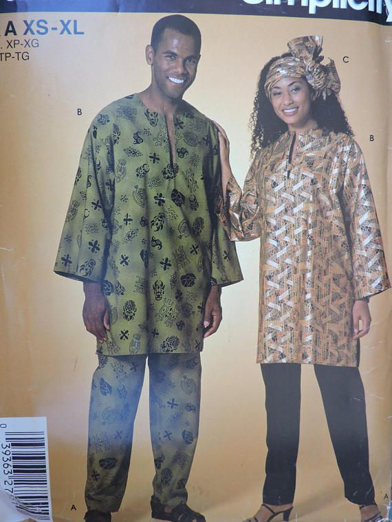 Headwrap Top Pants Unisex African Outfit Adult's