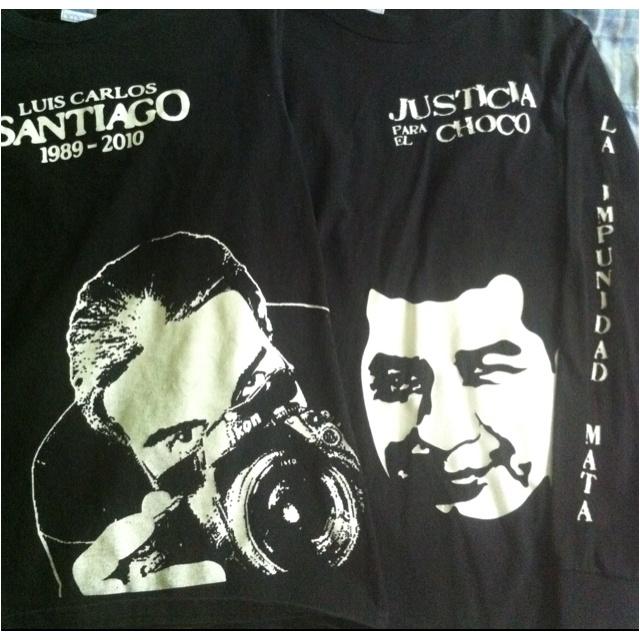 Mis compañeros Armando, asesinado el 13/11/08, y Luis Carlos, asesinado el 16/09/10. Ambos crímenes siguen impunes.