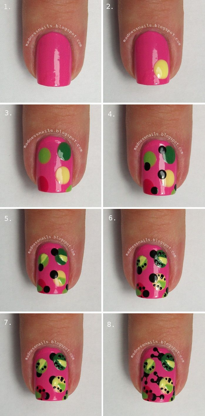 #nail tutorial #guestpost #madnessnails http://femmelifestyle.blogspot.com/2013/10/omw-its-madness-spring-has-sprung-cute.html