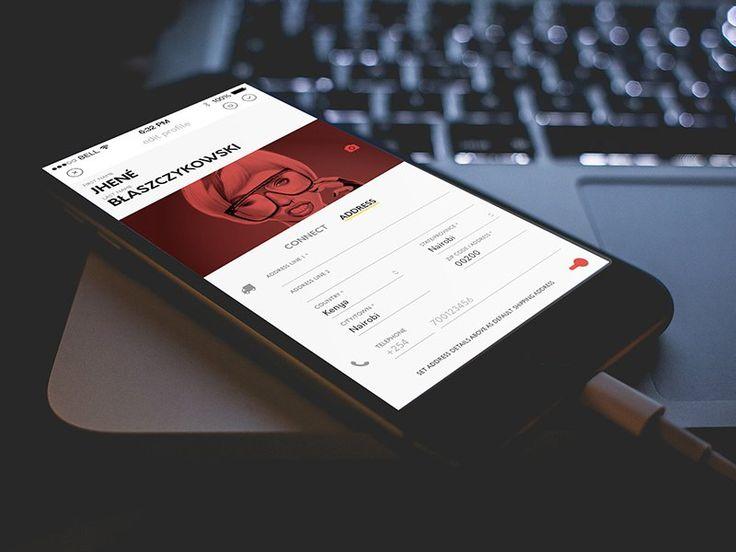 Edit Profile screen - Nelson Sakwa