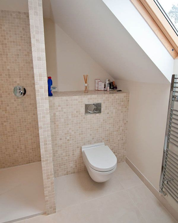 Shower room under eaves interior design pinterest for Bathroom ideas loft conversion
