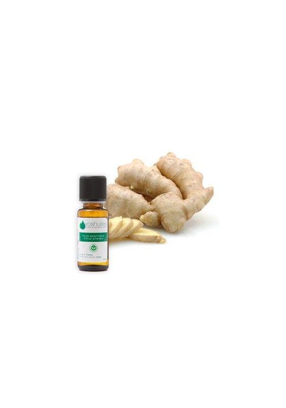 L'huile essentielle de Gingembre est une huile essentielle énergisante. Diluée dans une huile végétale, elle s'utilise en massage sur le ventre pour la digestion ou sur le corps en massage bien-être. Sa principale action connue est anti-inflammatoire.