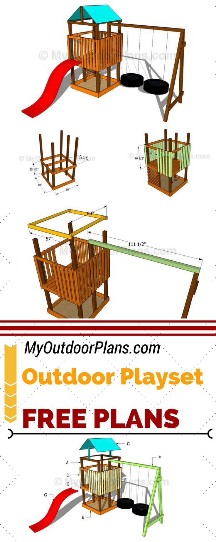learn how to build an outdoor playset so you can keep your. Black Bedroom Furniture Sets. Home Design Ideas