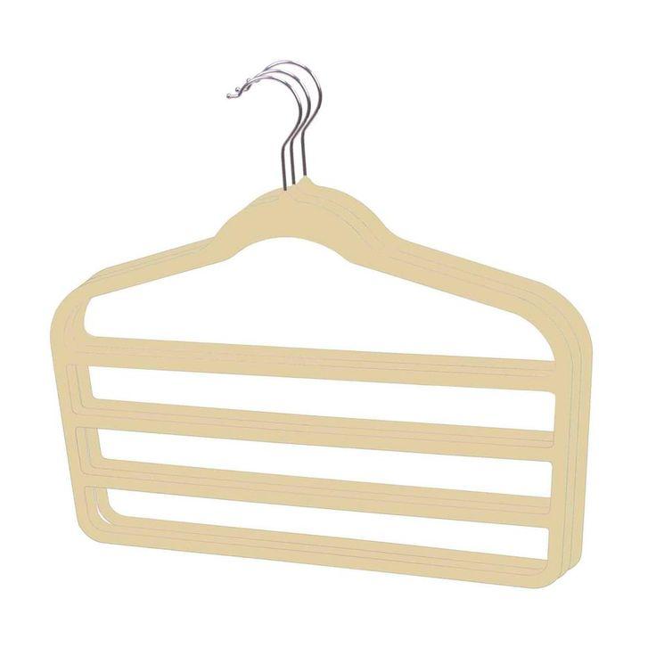 Ivory Velvet Trouser Hanger (3-Pack)