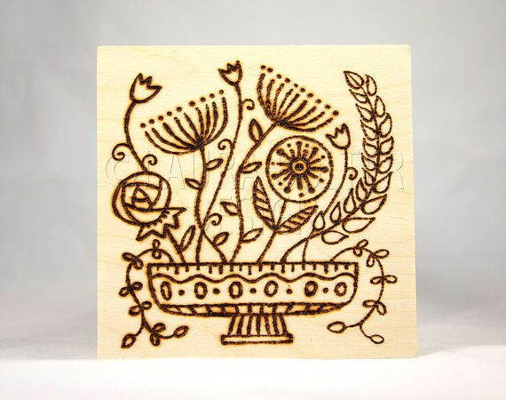 Original Wood Burning Art Pyrography By LauraBolterDesign 2500