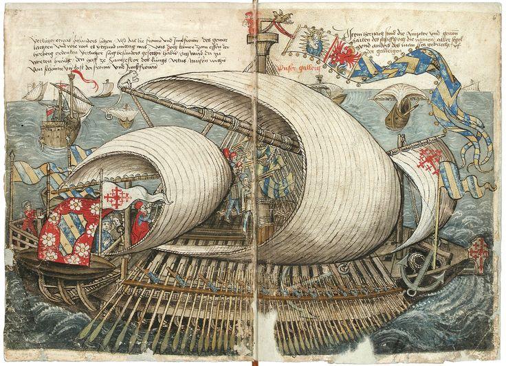 Konrad von Grünenberg: Beschreibung der Reise von Konstanz nach Jerusalem.  Papier; Bodenseegebiet (Konstanz?); um 1487. Badische Landesbibliothek.