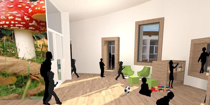 Interieur render peuterspeelzaal bop architecten ikc for Interieur architecten