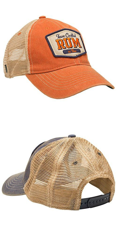 8fa6880527a TEAM COCKTAIL Rum Is Fun Mesh Trucker Hat - Orange HAT (Navy w  Orange)