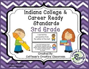 New Indiana State Standards- 3rd GradeThese are the new Indiana Academic Standards (Now called Indiana College and Career Ready Standards) for 3rd grade. Included: Math, Language Arts, Reading, Speaking & Listening and Media, Science and Social Studies.
