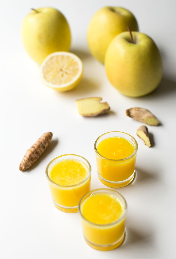 Immune boosting ginger shots! They're a great natural anti inflammatory remedy and taste much better than alcoholic shots.