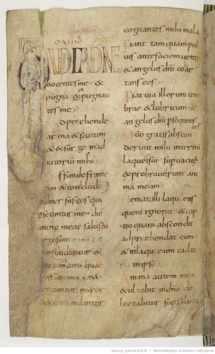 Amiens Bibliothèque municipale Ms. 18, Psautier, avec cantiques et litanies, fol. 29v