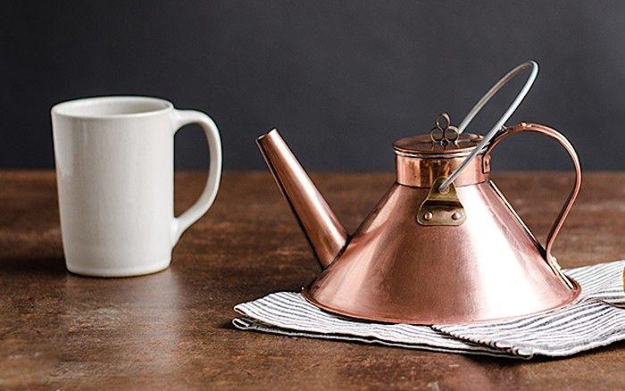 Copper Tea Kettle from Kaufmann Mercantile   Remodelista