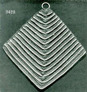 Diamond Potholder Pattern #9423 | Free Crochet Patterns