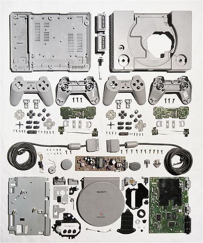 Knolling videogame consoles