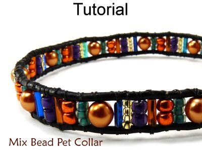 Beaded Pet Dog Cat Collar Beading Tutorial Pattern Instructions
