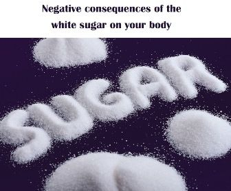 Negative consequences of the white sugar on your body