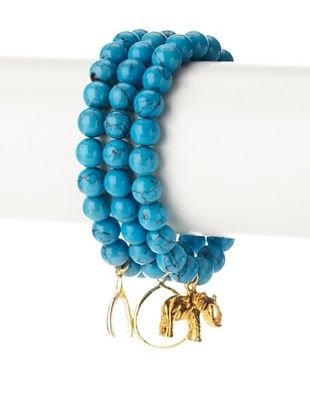 Privileged Aqua Charm Bracelet Set