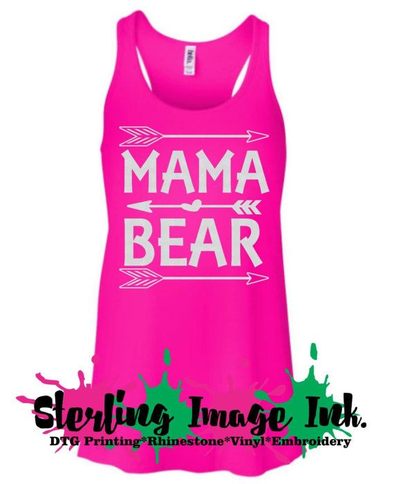 Mama Bear Custom Printed Shirt DTG Custom by SterlingImageInk