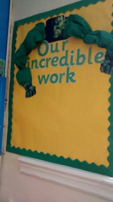 Hulk writing display