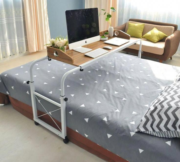 Over Bed Sliding Table Lets You Work And Eat In Bed Laptop