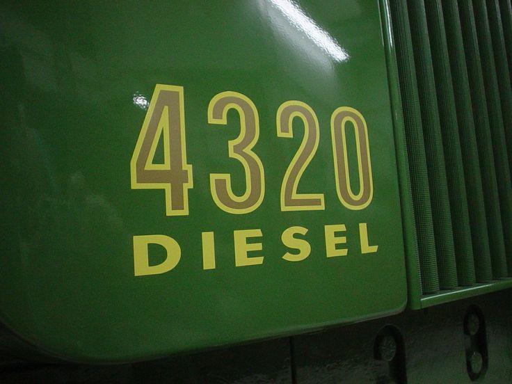 John Deere 4320 Diesel decal.