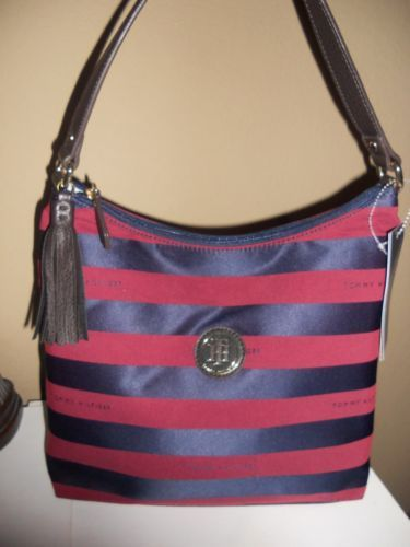 TOMMY Hilfiger Handbags red and blue small hobo style series #69223485468  $69.00