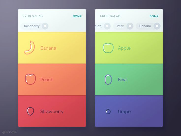 This is how you select your favourite fruits to make a salad using an interactive salad app interface
