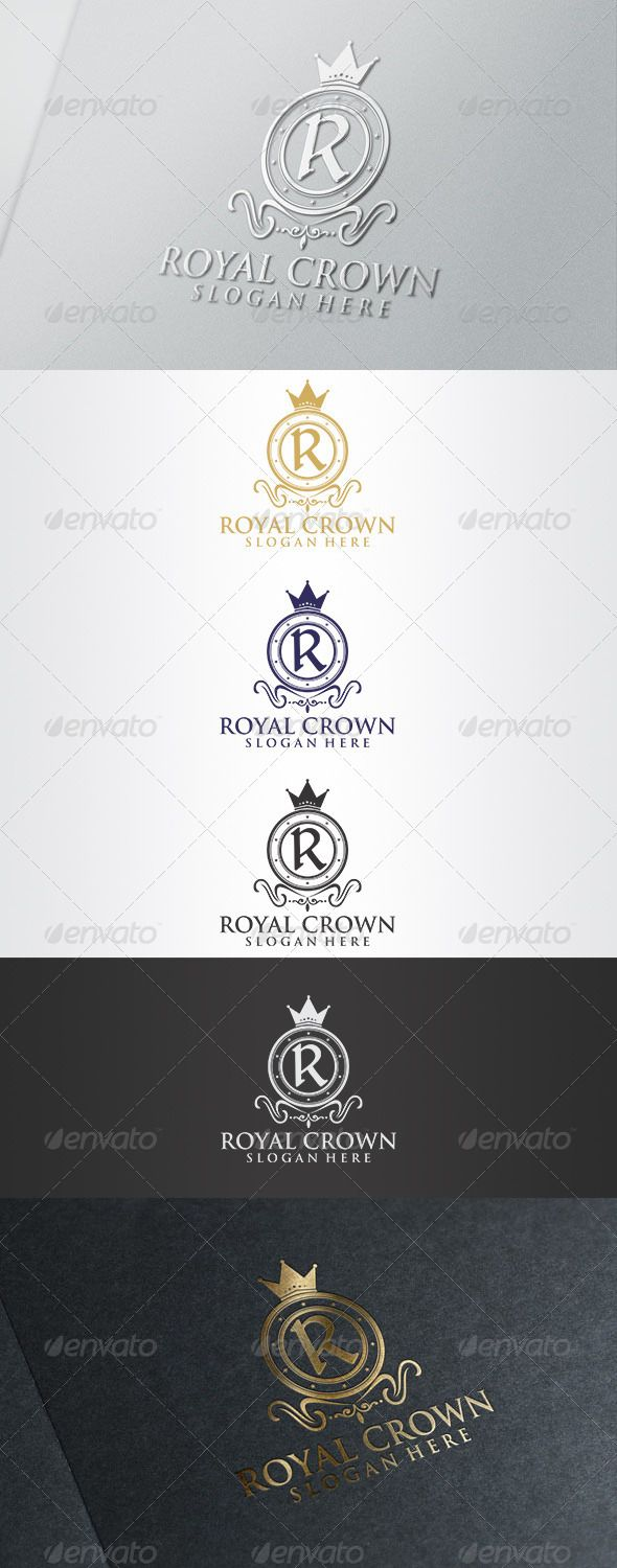 "Royal Crown Logo  #GraphicRiver          Royal Crown Logo   	 Overview:   CMYK Color, 100% vector  Editable & Re-sizable file in these file formats [EPS, AI, CDR]  Easy to change color & text  Letter ""R"" editable  Used Free Font [Link Included Main Download] 	 Note: The mock up file is not included, that's only for preview purpose. Please any help you need Contact me and I am at your service at any time.  	 More of my work: bolpent Portofolio"