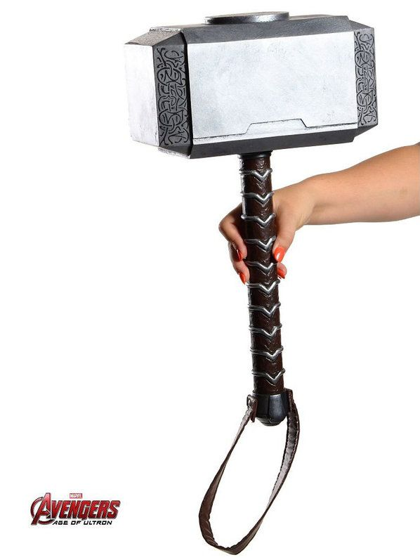 Check out Thor Adult Avenger's 2 Movie Hammer - TV & Movie Accessories & Makeup from Costume Super Center
