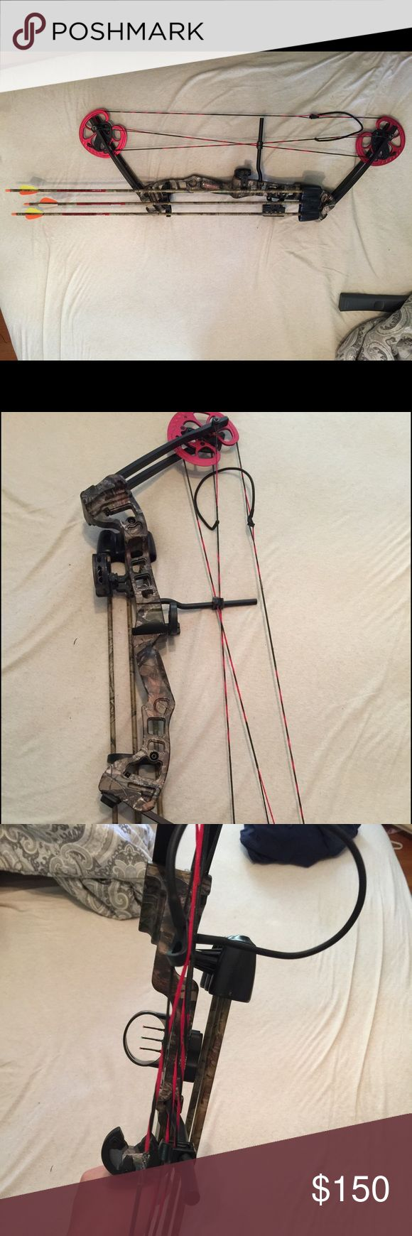 Barnett Vortex Compound Bow Brand new, never used compound bow. Pulls up to $65 pounds. Comes with accessories pictured. Bow retails for $200 by itself. Other
