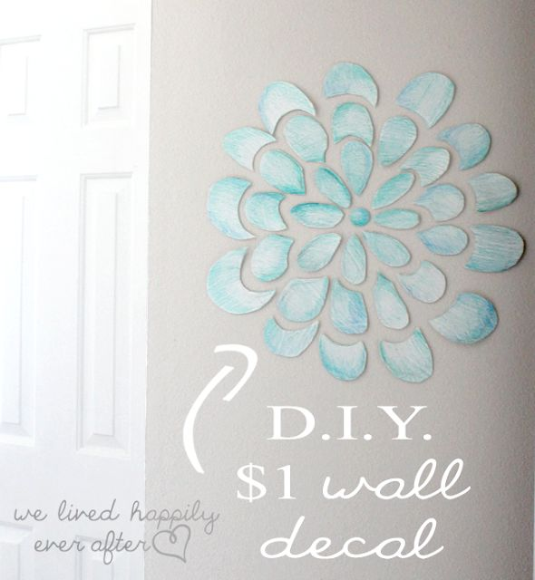 We Lived Happily Ever After: DIY Wall Decal for $1 {$55 Little Girl Playroom}