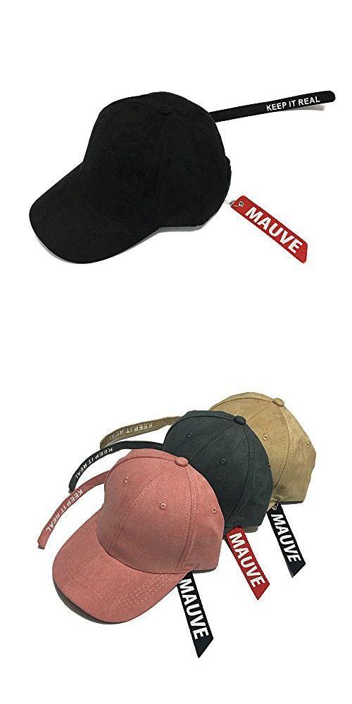 YING LAN Unisex Plain Structured Curved Visor Adjustable Velcro Baseball  Cap Hat Black 03bfd915c752