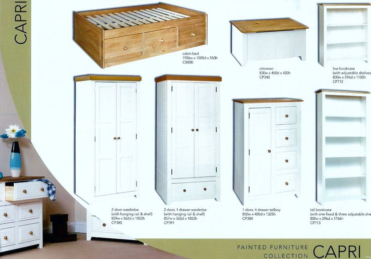 Premium Capri White Painted Solid Pine Furniture With Real Dovetail Drawers