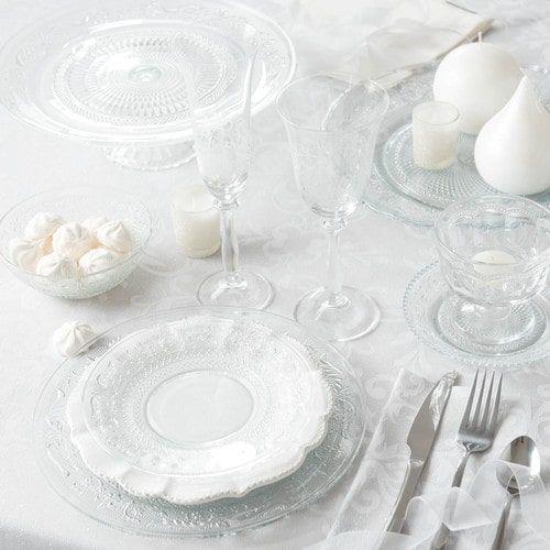 Piatto da dessert in vetro D 18 cm CLASSICA