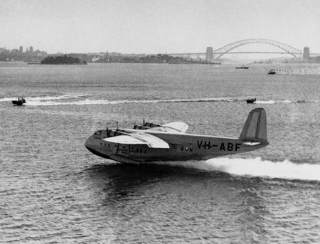 It was a big treat to go to Rose Bay to watch the flying boats.