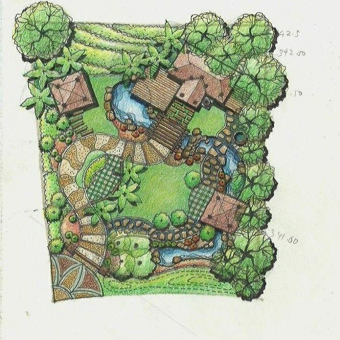 Planimetria 정원 디자인 도면 정원 가꾸기 조경설계