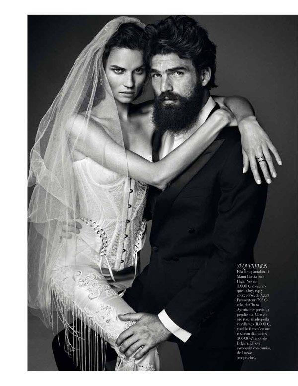 Egle Tvirbutaite Poses for Alvaro Beamud Cortes in Vogue Spain Brides