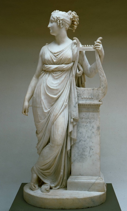 "Antonio Canova's sculpture of Terpsichore - her name means ""delight of dancing"" She was one of the nine Muses, ruling over dance and the dramatic chorus."