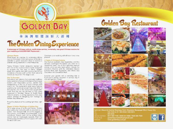 Golden Bay Restaurant is one of the biggest  venue for Chinese inspired wedding. FLIP through the Pages of the WEDDING DIGEST LUXE FOR LESS, the Revised Edition. It is converted  into a digital format with updated contents  available for FREE BROWSING at  www.weddingdigest.com.ph.  #WeddingDigestPh #emagazine #LuxeforLess #weddings #iloveweddings  #venue #wedding venue #catering #restaurant