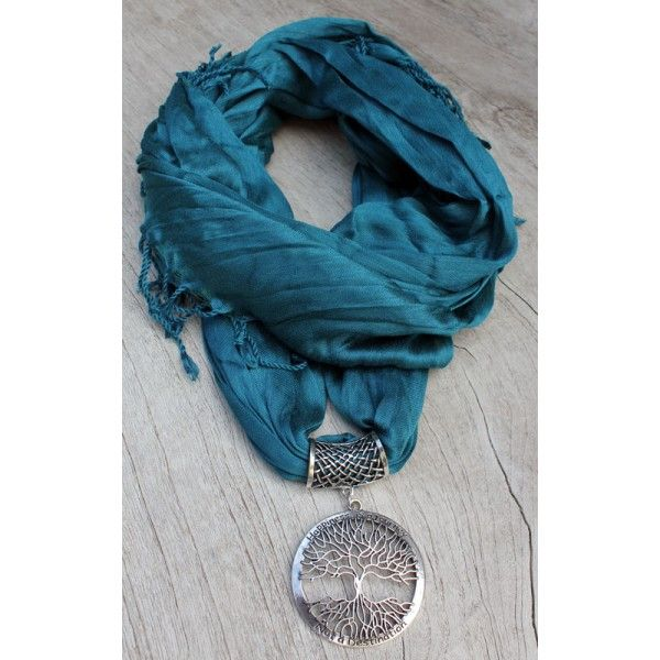 Gifts For Her - Tree of Life Scarf Emerald