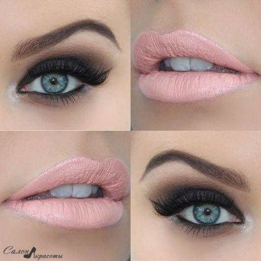 Красивый макияж для голубых глаз с красной помадой фото, видео - Макияж для блондинок с голубыми глазами (50+фото)