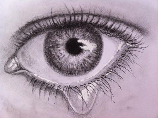 Pencil drawing eye www.inesreder.com