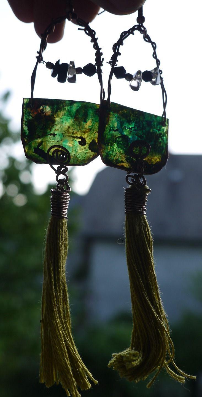 """Boucles d'Oreilles Bohême Chic, Boucles Ethniques, """"Kazumi"""", idée cadeau : Boucles d'oreille par princesse-aglae"""
