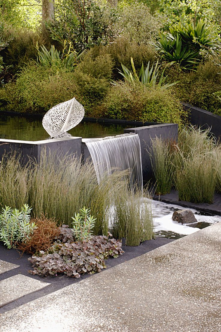 Water fountains outdoor new zealand - Modern Waterfall Lovely