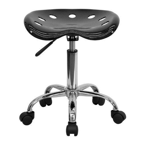 Tractor Seat Stool Adjustable Office Furniture Garage Work Chair Wheels BLACK  #FlashFurniture1